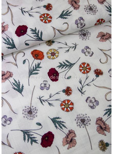 wild flowers - mousseline / tetra