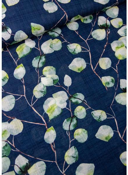 marine eucalyptus-  viscose katoen mix met linnen look