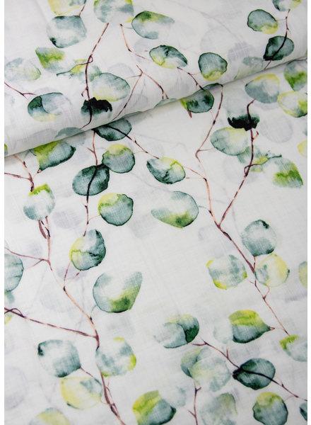 ecru eucalyptus -  viscose katoen mix met linnen look