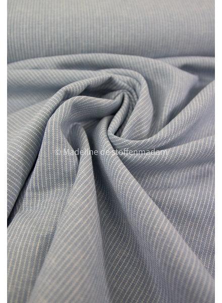 lichtblauw smalle strepen - linnen viscose blend