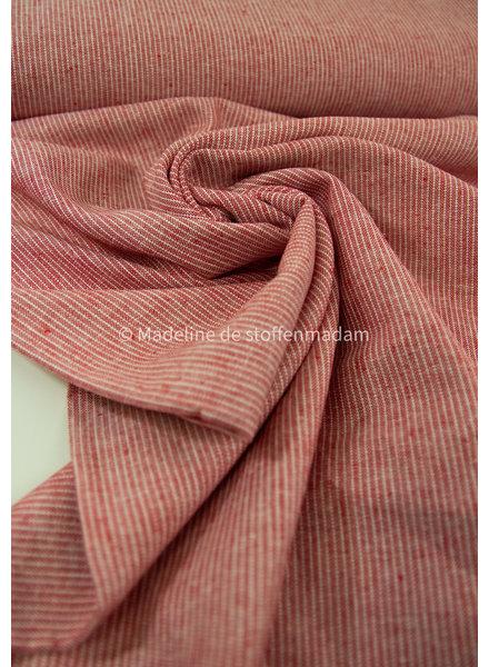 rood strepen - linnen viscose blend