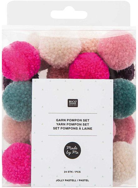 jolly pastel -  pompon set