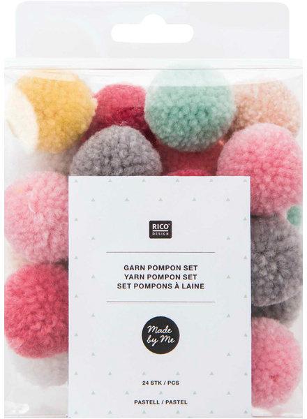 pastel - pompon set