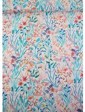 La Maison Victor turquoise grassprietjes - viscose