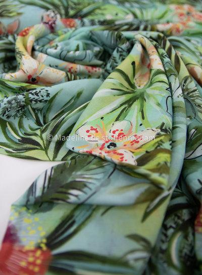 groene Hawaïprint - viscose