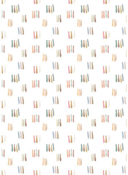waterkleurige streepjes - dunne tricot GOTS