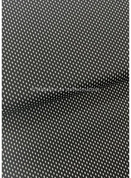 fine motif black - cotton