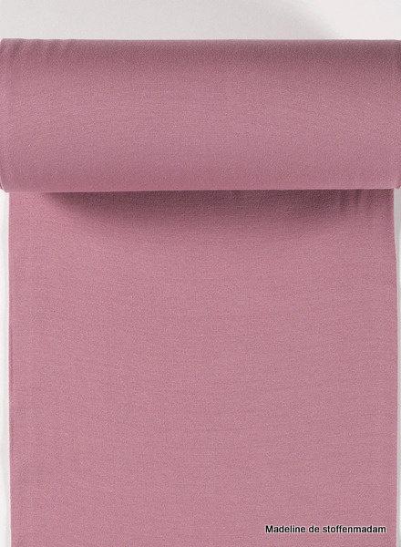 dark dusty pink - solid rib cuff