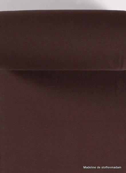 chocoladebruin - effen boordstof OEKO TEX
