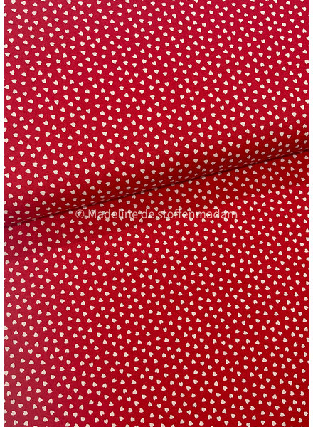 hearts red - cotton