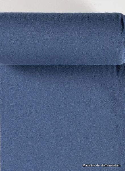 jeansblauw - effen  boordstof OEKO TEX