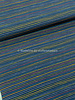 Poppy fabrics strepen into space  marine - katoen