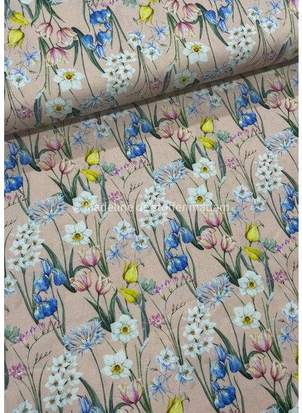 light pink tulips - cotton
