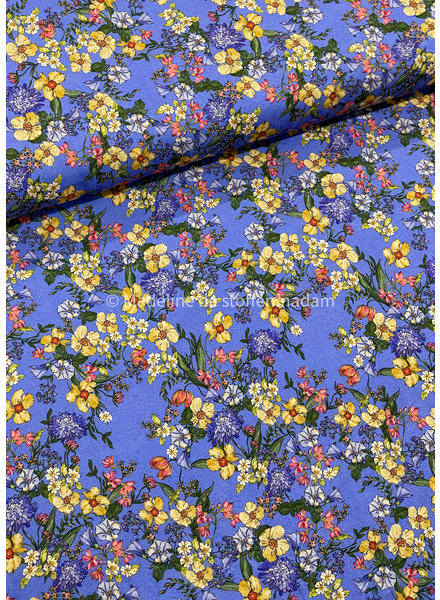 kobalt flowers - viscose
