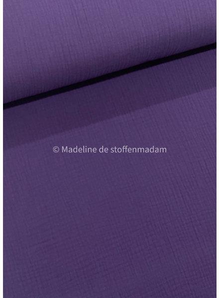 dark purple muslin fabric