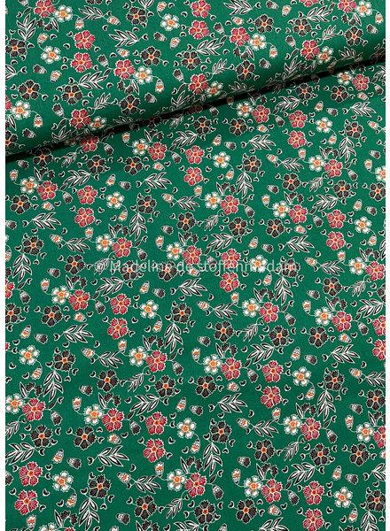 green flowers 024 - cotton