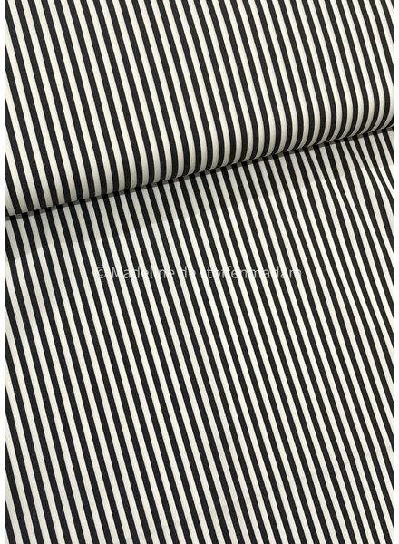 black stripes - cotton mix