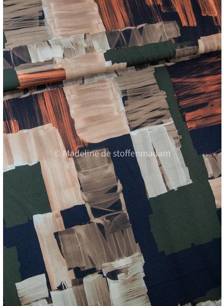 groen vlakken - magnolia stretch soepelvallende stof