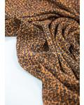 faux plisse viscose - leopard