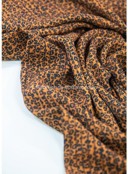 M faux plisse viscose - luipaard