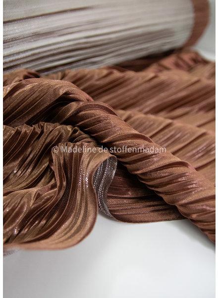M foil plissé copper/silver