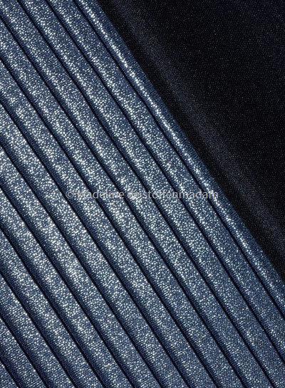 M Plissé met voering - blauw en shiny