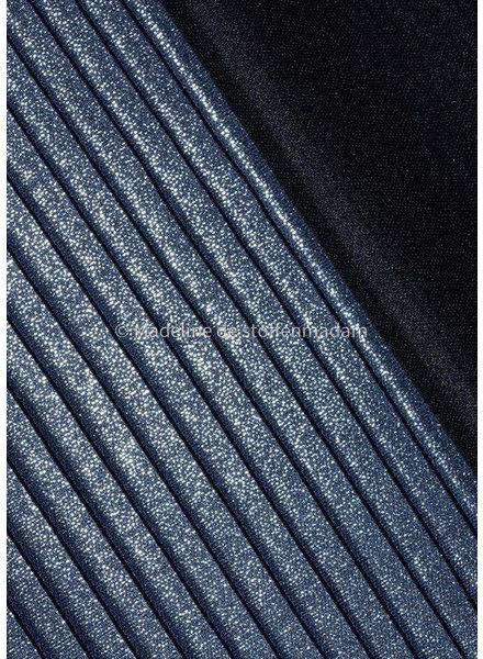 blauw glinsterende plissé