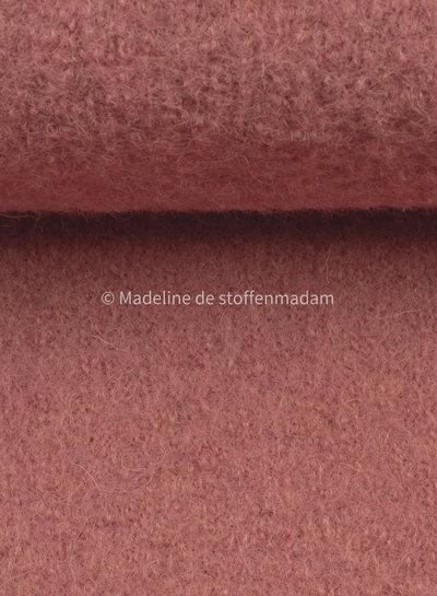 roze - gekookte wol