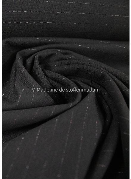 mooie punta di roma - zwart met lurex lijn