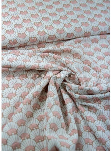 pink little  dandelions - viscose