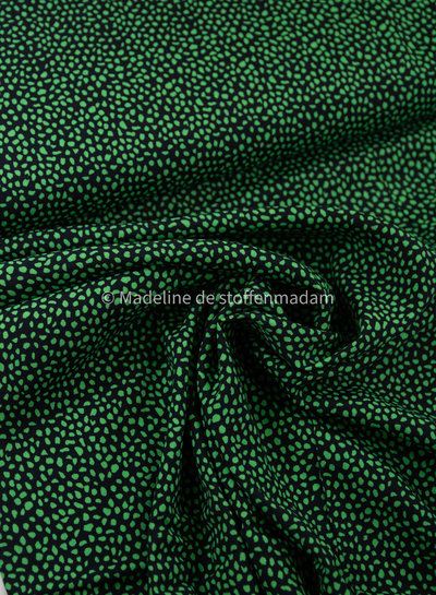A La Ville green little dots - viscose crêpe