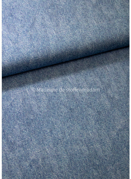 Poppy fabrics light denim blue 6 - french terry