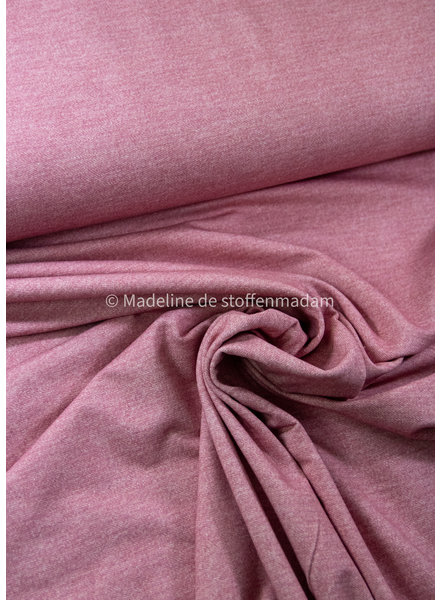Poppy fabrics roze denimlook - french terry