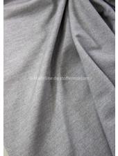Poppy fabrics lichtgrijs denimlook - french terry