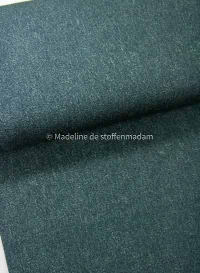 Poppy fabrics donkergroen melee  - french terry