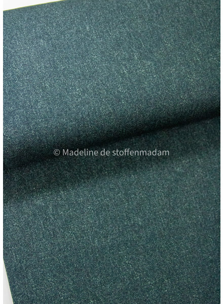 Poppy fabrics dark green melee  - french terry
