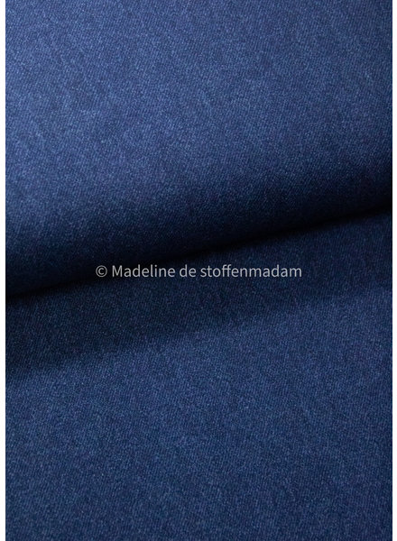 Poppy fabrics dark denim blue 8 - french terry