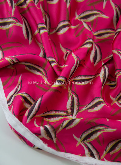 four roses fuchsia - satijn