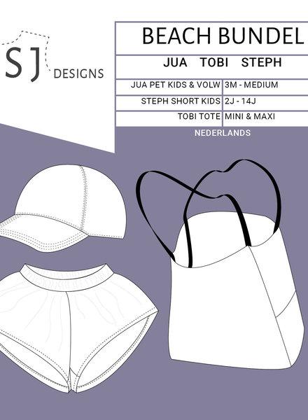 Wisj patterns De beach bundel - Jua pet - Tobi bag - Steph short