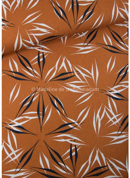Ferns copper - linen viscose blend