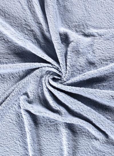 babyblauw teddy fleece - biokatoen