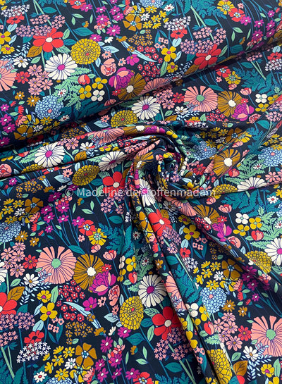 Swafing Tropical forest bloemen - tricot