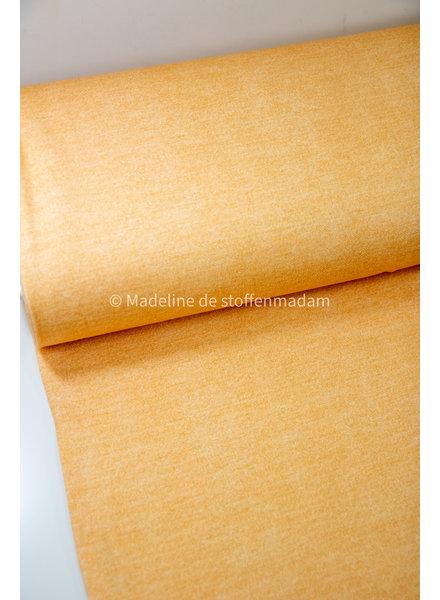 Poppy fabrics geel melee - french terry