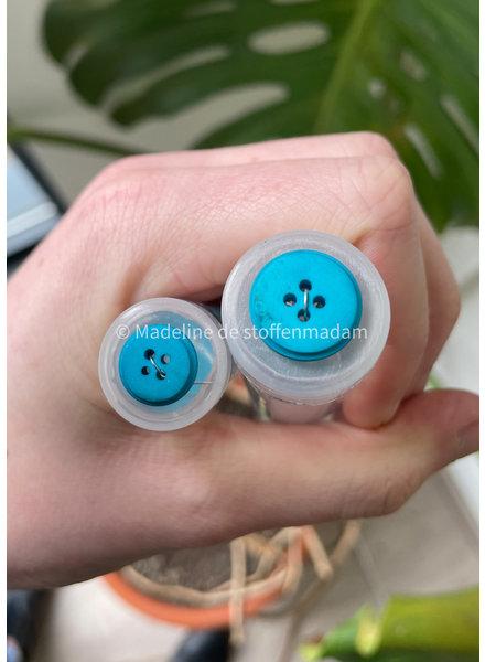 Prym turquoise mat 11mm gerecycleerde knoop - 4 gaten