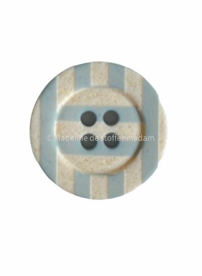 Prym blauw  geruit 20 mm - knoop 4 gaten
