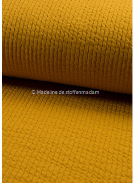 ochre bubble double structured jersey