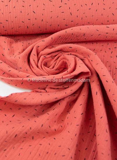sprinkles coral - muslin