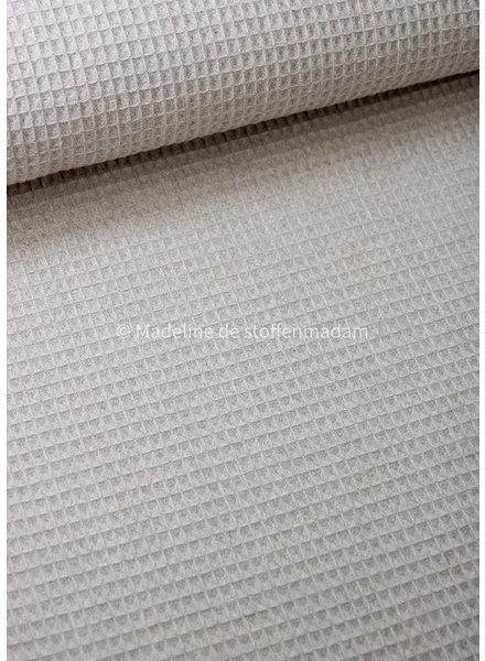 M sand melange waffled cotton