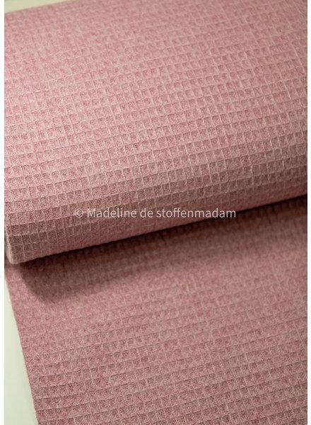 M dusty pink melange waffled cotton