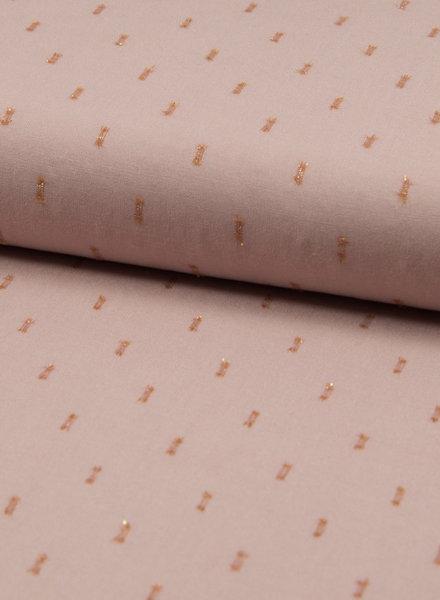dusty pink rayon lurex